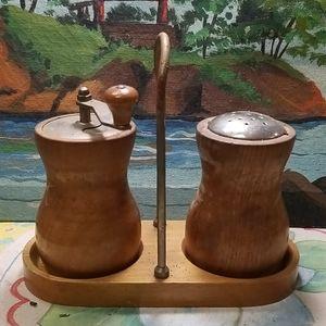 Vintage wooden salt and pepper grinders
